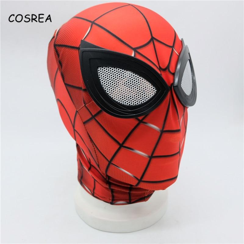 Iron Spider Man Mask Cosplay Facial Mask Costume Superhero Spiderman Mask Bodysuit Suit Jumpsuit Halloween Party Boys Spider-Man