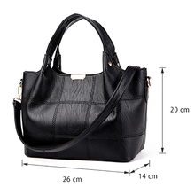 Women Leather Handbags Women Soft Water Leather Shoulder Bags Handbag High Quality Women Patchwork Messenger Bags