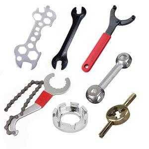 Image 1 - Многофункциональные инструменты для ремонта велосипедов, конусный гаечный ключ для велосипедных концентраторов, велосипед из углеродистой стали, гарнитура, гаечный ключ, клапан, спица, MTB, инструменты для велосипеда