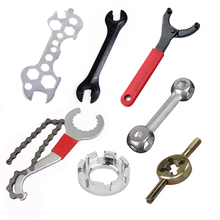 Clé de réparation de bicyclette, outils de réparation de bicyclette multifonctions clé à cône de bicyclette en acier au carbone clé de casque de bicyclette, outils de bicyclette