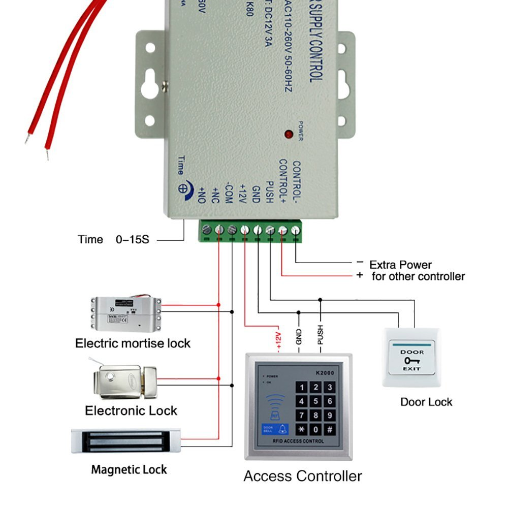 hight resolution of obo hands full rfid door lock access control keypad kit electric magnetic lock power aupply exit button 5 cards 5 keyfobs e in access control kits from