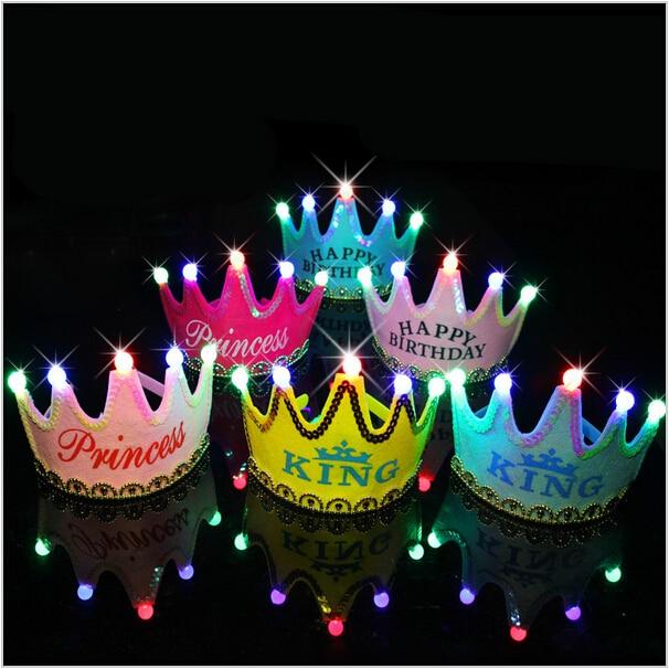 led suave luminosa decoracin fiesta de cumpleaos de lujo corona sombrero para nios y adultos with fiesta de cumpleaos de adultos with para fiesta de