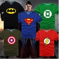 NEW Halloween Ghost Busters GI Joe Hulk Thor Vingadores de Super-heróis Superman Homem De Ferro do Flash Batman Lanterna Verde T Shirt Homens pano
