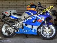 Лидер продаж, для SUZUKI GSXR600 GSXR750 GSXR 600 750 96 97 98 99 00 1996 1997 1998 1999 2000 Синий Белый Кузов тела обтекатели
