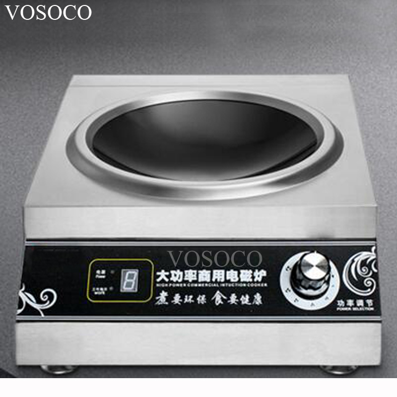 VOSOCO Electromagnetic oven, commercial electromagnetic oven 5000W concave high power electromagnetic oven table type high-pow high quality zp500a 2cz concave type convex type silicon rectifier common rectifier tube