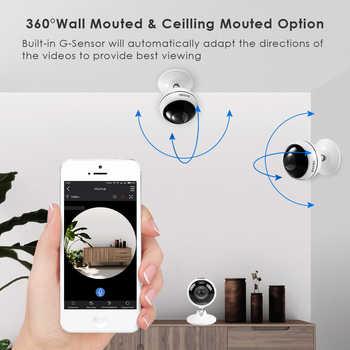 ZOSI Wireless IP Camera WiFi Panoramic Fisheye Video Surveillance Camera 3MP Ultra HD 360 Full Degree View Angel VR CCTV Camera