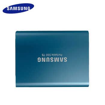 """サムスンポータブル SSD T5 500 ギガバイト 1 テラバイト外部ソリッドステート Hd ハードドライブ 1.8 \""""USB 3.1 Gen2 (10 Gbps) ノートパソコンのデスクトップ"""