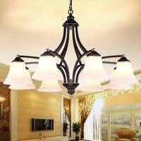 Phong cách Sắt Chandelier phòng ngủ phòng ăn cho các Nông Thôn Mỹ đèn chùm có thể điều chỉnh Mỹ chandelier bán buôn