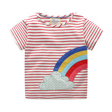 цена на 1-6 Year Boys Clothes Baby Boys T Shirt Cotton Tops Tees For Boy rainbow Print Kids Outwear children Clothes Top 2019 Summer New