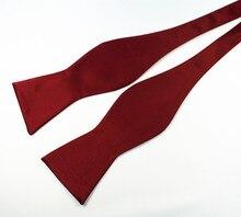 RBOCOTT Bow Ties Self Tie Men's Fashion Solid Color Bowtie Adjustable Business Wedding Papillon For Men Accessories