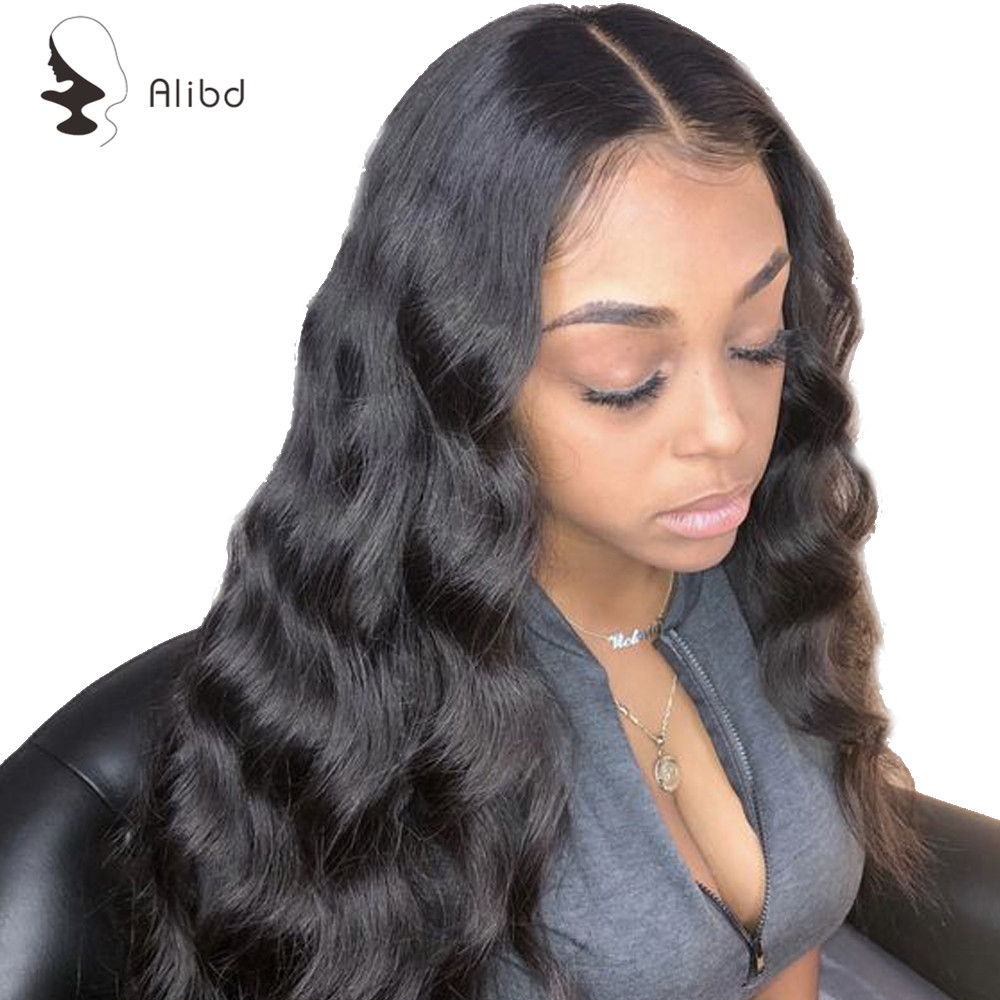 Alibd Body Wave 360 Lace Frontal Wig Pre Plucked With Baby Hair Brazilian Human Remy Hair Swiss Lace Front Ear To Ear Long Wigs