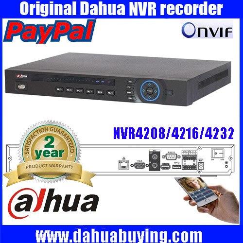 2016 hot Sale Dahua 5MP DHI NVR4208 8ch 16ch 32ch channel CCTV NVR DVR Recorder Dahua