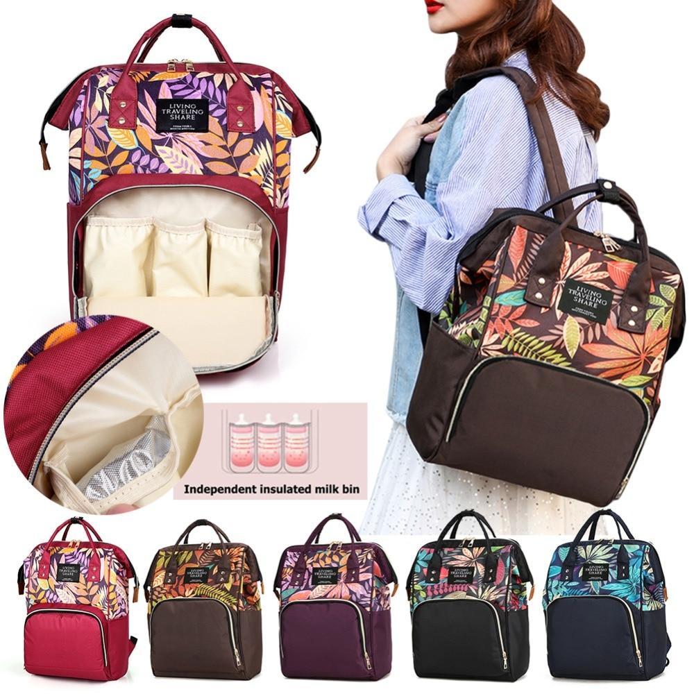 Fashion Large Capacity Mummy Diaper Bag Maternity Backpacks Nappy Organizer Bags Mummy Travel Shopping Nursing Baby Diaper Bag
