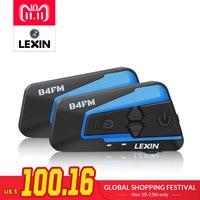 2 шт. лексин 4 способ мотоцикле, мотоцикл гарнитуры Bluetooth шлем домофон, FM BT intercomunicador наушники MP3 interfone