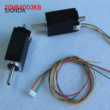 5pcs Free shipping 20HB4003KB Hollow/double shaft Stepper  NEMA8 20 Hybird,2 phase 4 wire