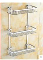 The bathroom shelf suction cup receive bathroom rack shelf in 3 layer wall from punching