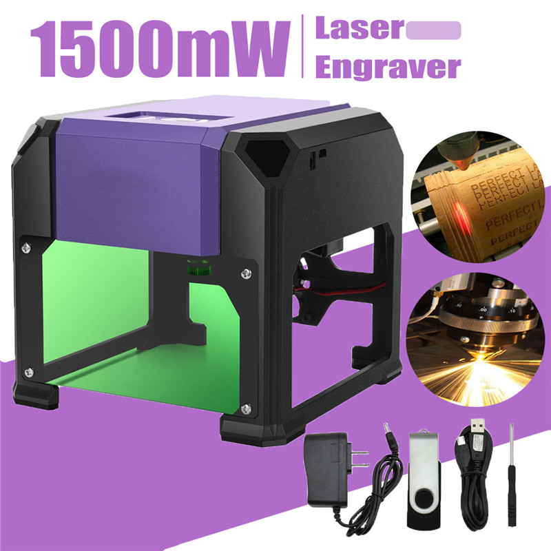 1500mW USB Desktop Laser Engraver Machine DIY Logo Mark Printer Cutter  CNC Laser Carving Machine 80x80mm Engraving Range 5500mw diy desktop mini laser engraver engraving machine laser cutter etcher cnc picture logo printer 30 40cm