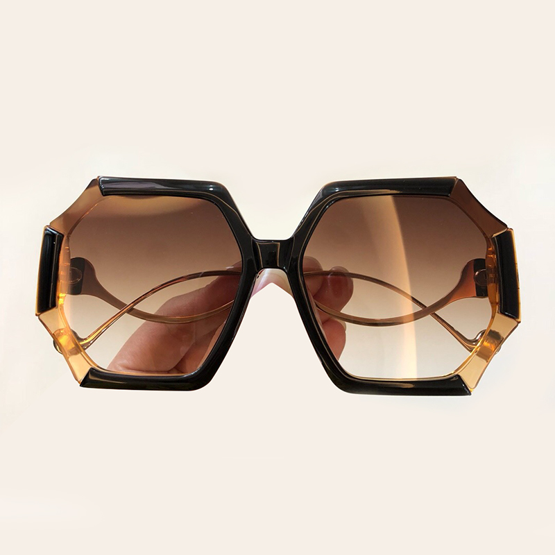 2019 New Women Sunglasses Brand Designer High Quality Acetate Frame UV400 Protection Shades with Box Gradient