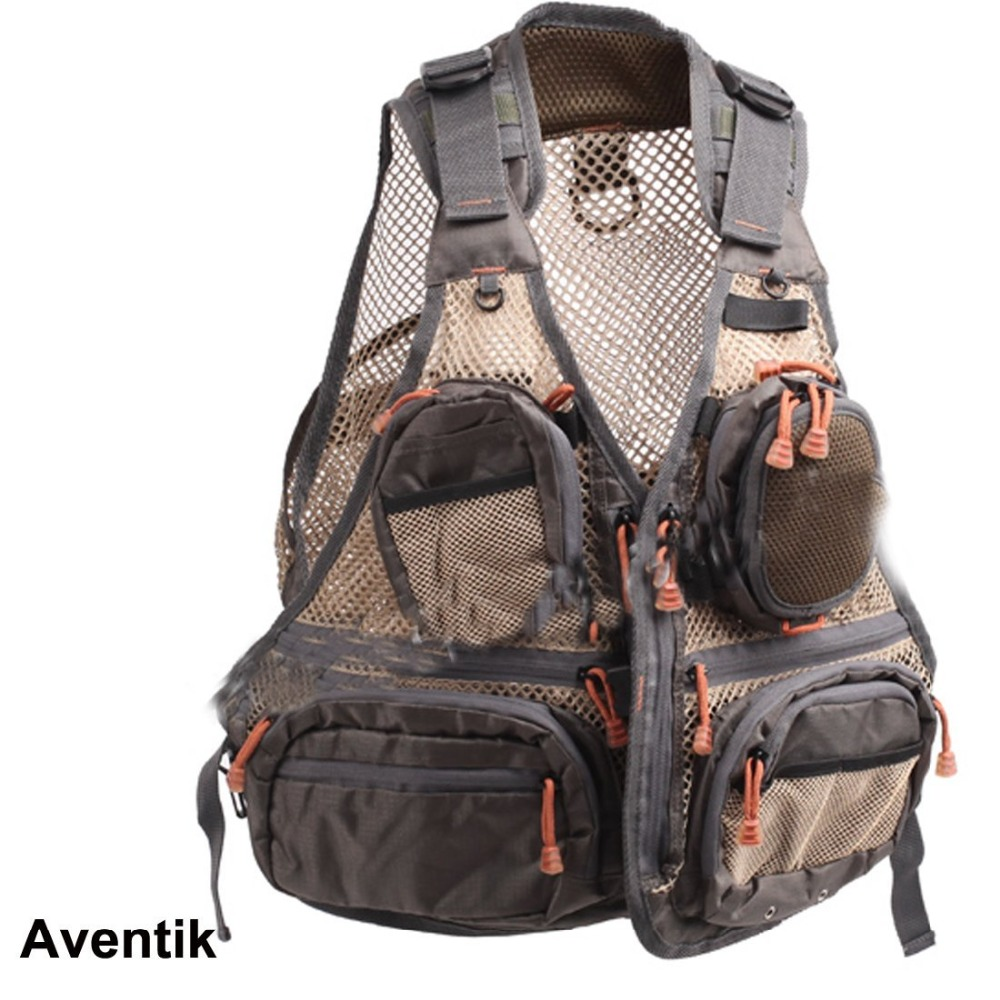 Aventik Super Light Quality Mesh Fabric Fly Fishing Vest General Size Multi Function Mutil Pocket Outdoor Wading Clothes Vest цена 2017