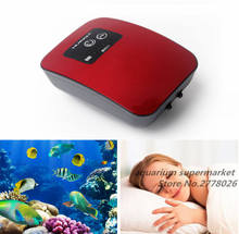 AC en DC Lithium batterij opladen tweeërlei gebruik mute waterdichte luchtpomp voor aquarium ultra stille aquarium toename zuurstof pomp