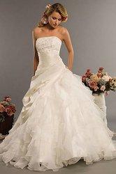 Classic style vestidos de noiva a line robe de mariage strapless applique bridal gown wedding dress.jpg 250x250