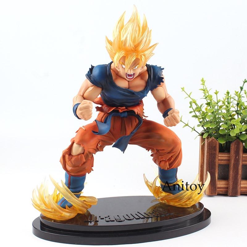 Dragon Ball Figure Dragon Ball Z Kai Goku Action Figure Super Saiyan Son Gokou Ver. 2 Toy 26cm Son Goku Toy huong anime figure 27cm dragon ball super saiyan 2 goku comic ver son goku pvc action figure collectible model toy