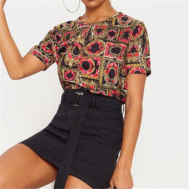Women Summer Short Sleeve...