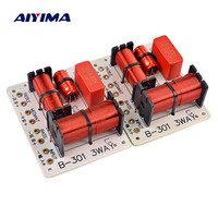 Aiyima 2 pcs 150 w 3 가지 방법 오디오 스피커 크로스 오버 트레블 + 미드 레인지 + 베이스 크로스 오버 스피커 필터 주파수 분배기 1000 5000 hz