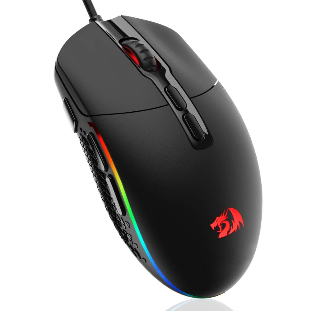 Redragon M719 INVADER Wired Gaming Mouse Optical Office Mice RGB Backlit 10000 DPI 7 Programmable Buttons PC Computer For Dota