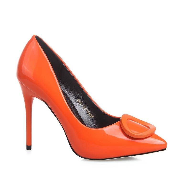Zapatos De Tacon Color Naranja