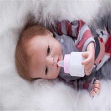 19 inch 48 cm Silicone baby reborn dolls, lifelike doll reborn Cute baby boy girl holiday gift