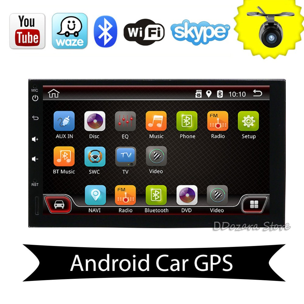 2 Din Android Universal Car Radio GPS Navigation Bluetooth 2din Car Audio Stereo RDS USB Car Multimedia No DVD Player Free Camer 2din car pc dvd gps navigation for 2din car map dvd player car autoradio multimedia stereo audio sd usb bluetooth steering wheel