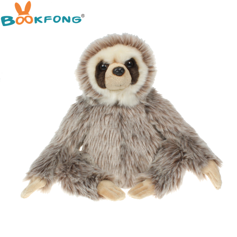 25cm Cute Mr Sloth Doll Soft Cuddly Plush Stuffed Toy Simulation Animal Children's Toys Christmas Present