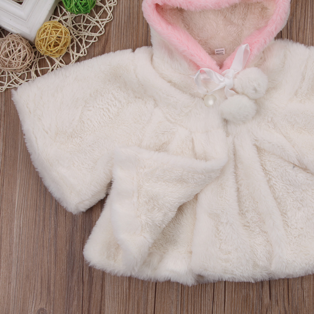 Baby Toddler Girl Warm Fleece Winter 3d Ear Coat Snowsuits Jacket Cloak Clothes Infant Girls Lovely Daily Soft Jackets Coats Girls' Clothing