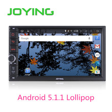 Joying Quad Core 7 Inch 1024*600 2 Din Android 5.1 Car Audio Stereo Radio With GPS TV 3G WiFi Universal GPS Navigation Head Unit