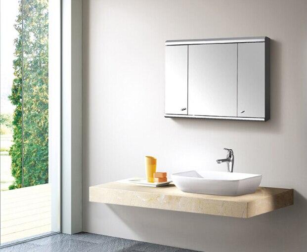 Stainless Steel Bathroom Ark Lens Ark Lens Case 563 European Toilet Bathroom  Mirror Locker Combination