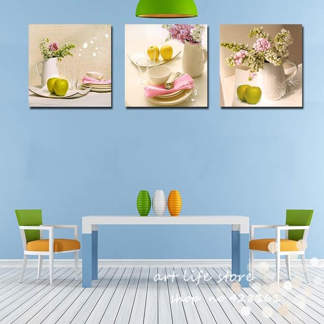 3 Panneaux Décoration Art Peintures Cuisine Fruits Décoration