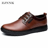 Factory Outlets Handmade Men Flats Genuine Leather Men Oxfords Shoes Fashion Zapatos Hombres Brand Lace Up