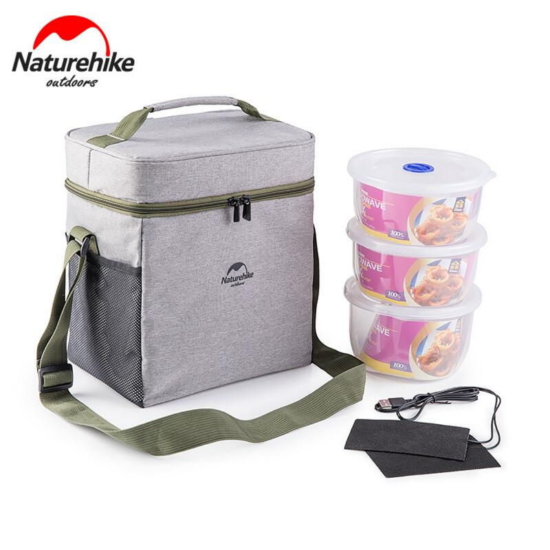 Naturehike Outdoor Lunch Bag Food Picnic Bags <font><b>Cooler</b></font> Bag Refrigerator Thermo Bag Thermal Waterproof Insulate With Lunch Boxes