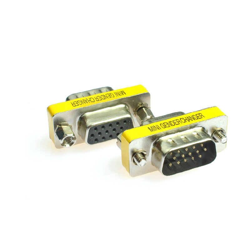 1 pcs 15pin VGA Female to VGA Male Converter Adapter for computer adpater Wholesale