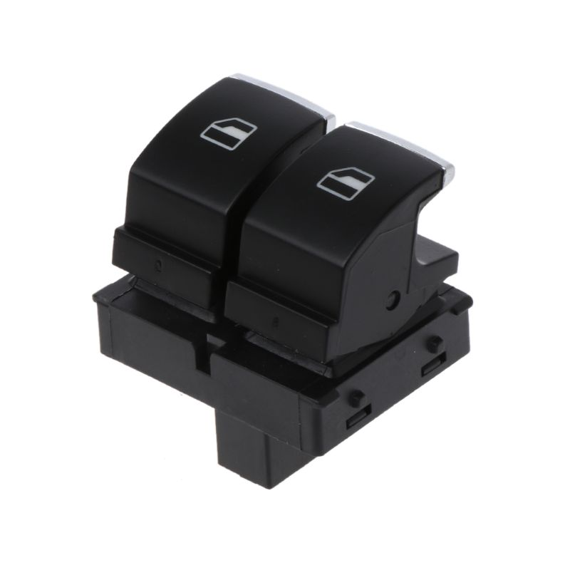 New Chrome Control Window Switch Button 5K3959857 5K3 959 857 A / B / C for <font><b>VW</b></font> <font><b>Golf</b></font> <font><b>GTI</b></font> Passat B6 Rabbit 2 Doors Seat Ibiza image