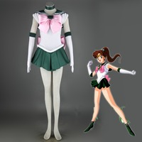 Athemis Anime Sailor Moon Makoto Kino/Sailor Jupiter Cosplay Costume custom made Dress High Quality