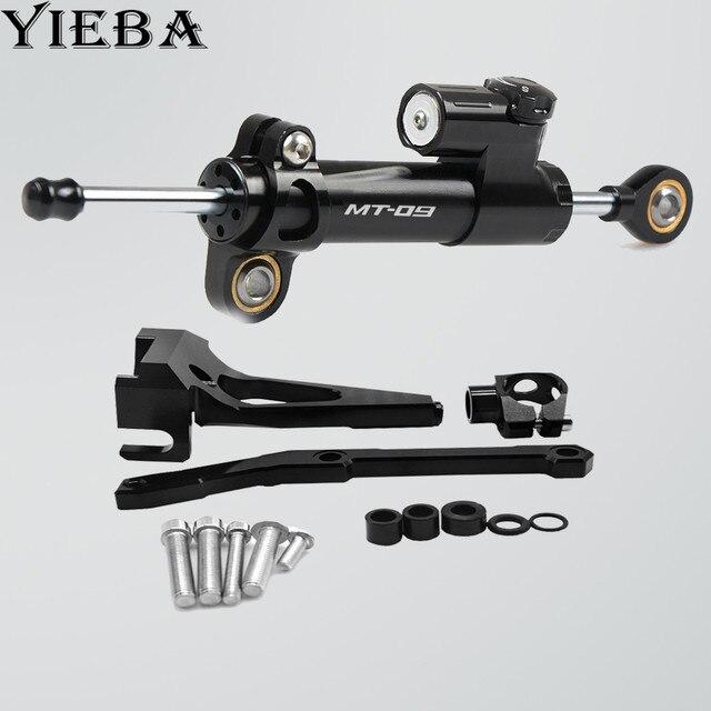 Kit de support de support damortisseur   Stabilisateur de direction de moto MT09 pour Yamaha 2013 MT09 2014 2015 2016 FZ09 FZ 09 2017