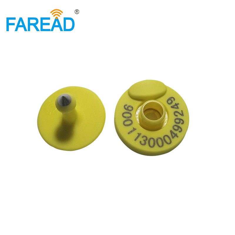 X10pairs Best Sale 134.2KHz Open-top Design Passive RFID EID Tag Animal ID Ear Tag For Pig Cattle Goat Livestock ID Management