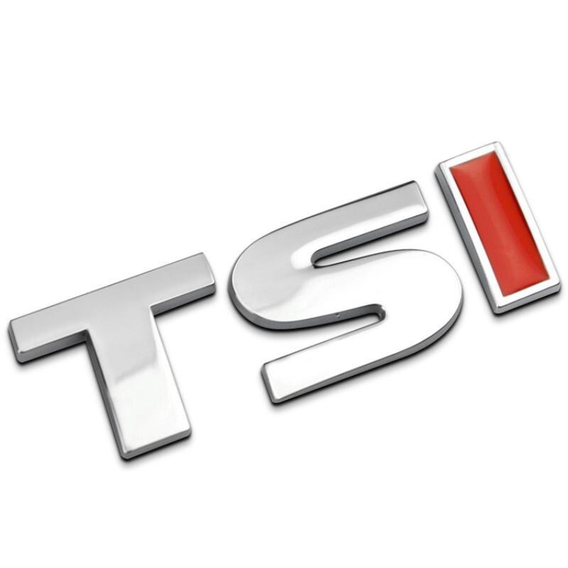 MAYITR Car Styling 3D Metal TSI Badge Sticker Emblem Decal For V-W T-iguan P-olo G-olf 4 5 6 MK-6 Указатель поворота