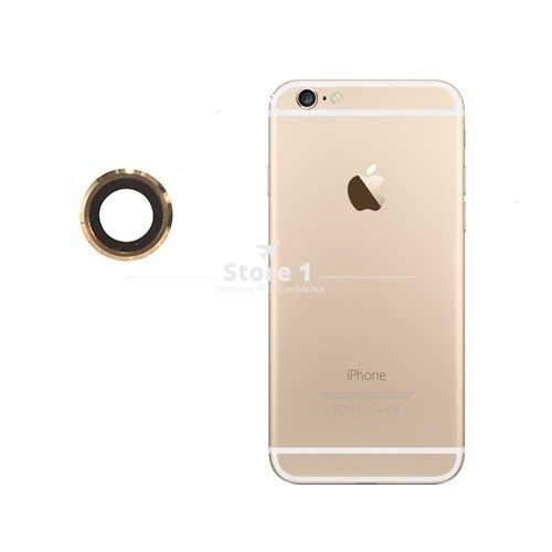 100% Original for Apple iPhone 6 Plus Camera Lens; Sapphire Crystal Back Camera Glass Lens with Frame for iPhone 6 Plus 5.5 inch 4
