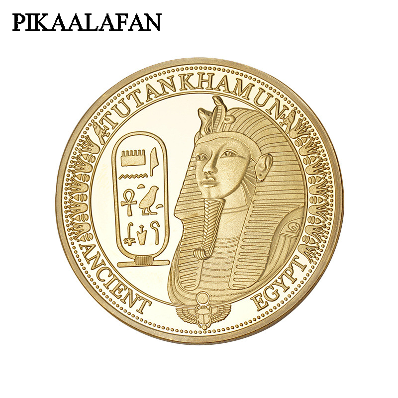 PIKAALAFAN Gold/Silver Plated Coins Ancient Egypt Sphinx Design Copy Coins For Collection Gift Commemorative Challenge Coin