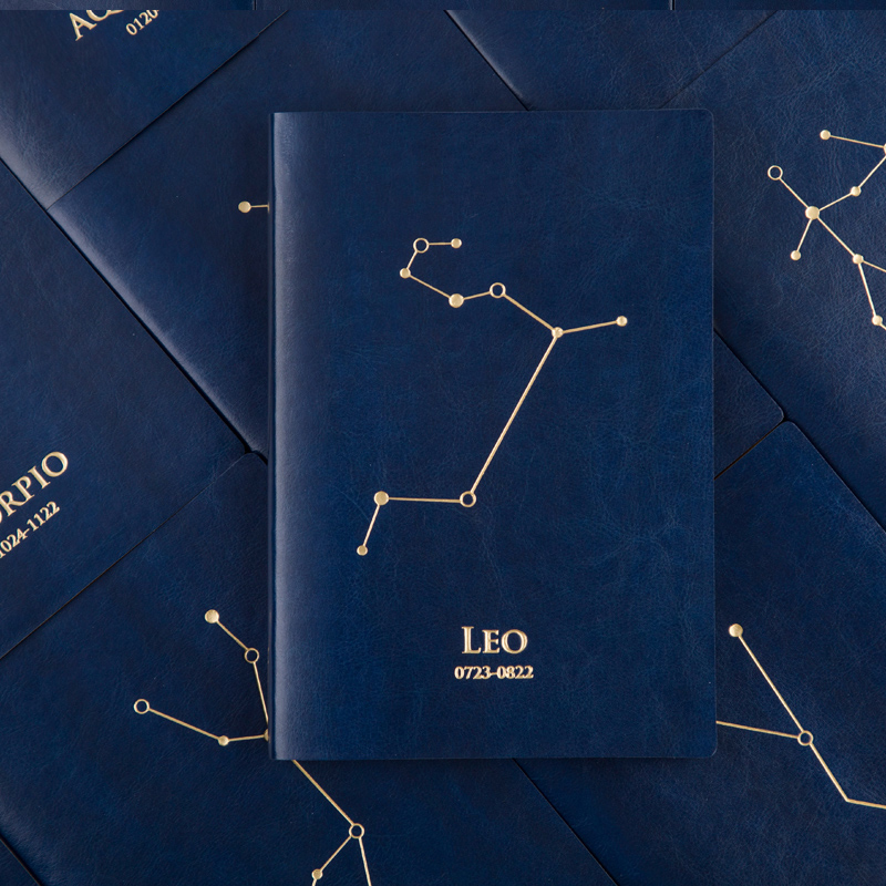 Mirui stationery 12 Constellation Schedule book A5 notebook Creative blue star book catalog blue book