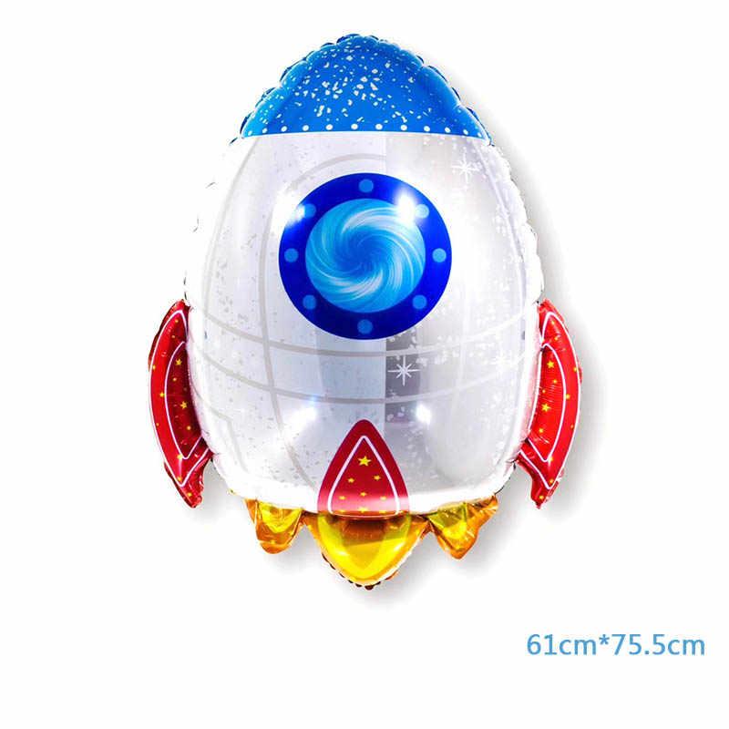 Decorações Do partido Do Bebê Foguete 1 PC Gigante Astronauta Brinquedos Favor Crianças Menino Super Herói FELIZ ANIVERSÁRIO Balões Folha