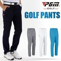 2020 Pgm Mens גולף מכנסיים ייבוש מהיר לנשימה מכנסיים ישר מלא אורך מכנסיים גולף בגדים עם כיס D0979-במכנסי גולף מתוך ספורט ובידור באתר